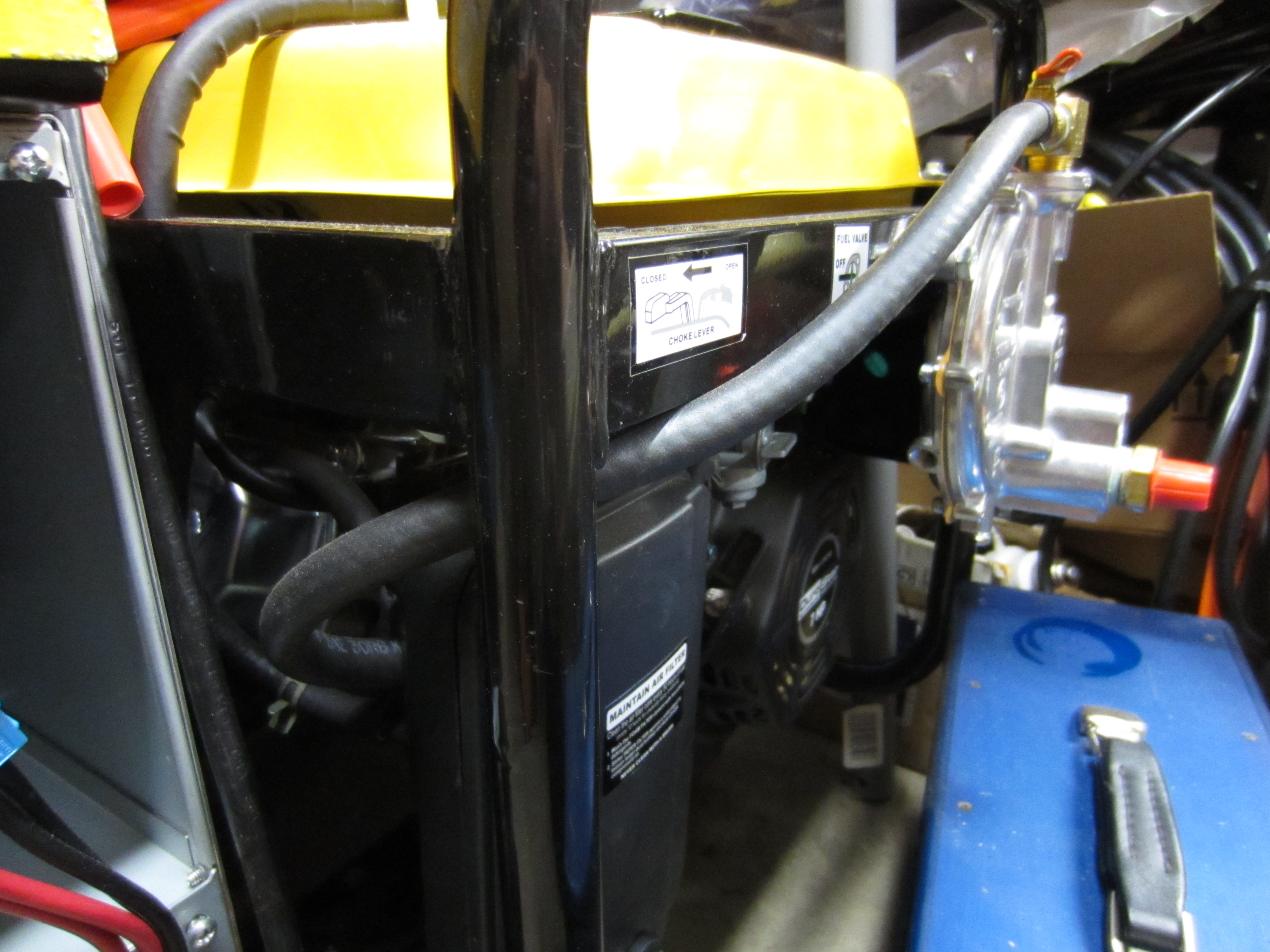 Converting a generator to run on natural gas on garydion